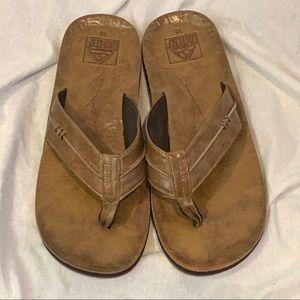 Reef tan sandals flip flops shoes Size 10